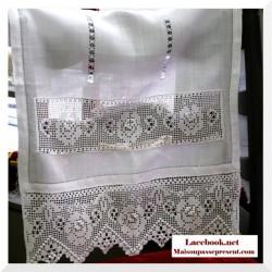 Rideau toile crochet